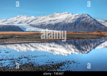 Flaajokull, Hofn, Austurland, Iceland, Europe - Stock Photo