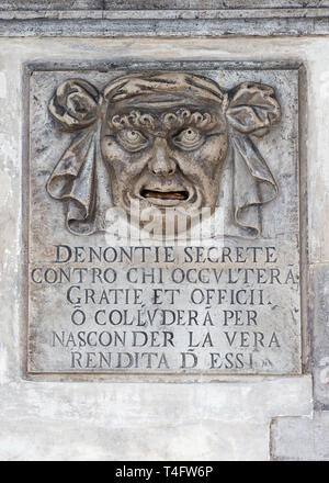 Doge's Palace mailbox, Venice, Italy - Stock Photo