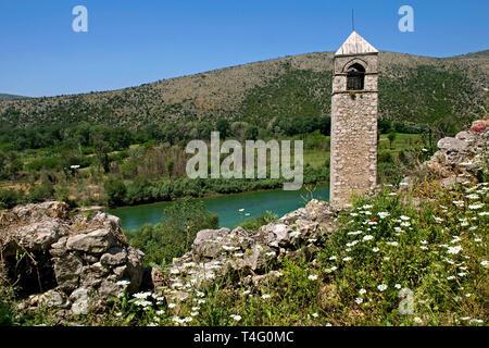 Počitelj is historic village in Bosnia and Herzegovina - Stock Photo