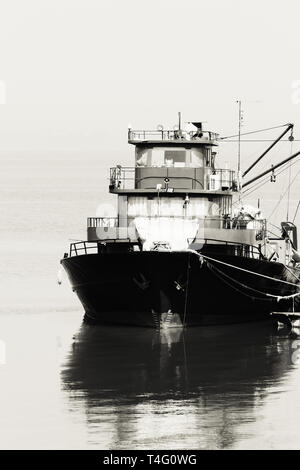 Large fish processing boat in the deep water dock. photo - Stock Photo