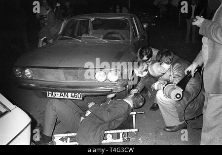 The car (Audi 100) with the corpse of murdered Hanns Martin ...