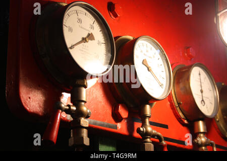 technical tool for measuring atmospheric pressure on ships and boats - Stock Photo