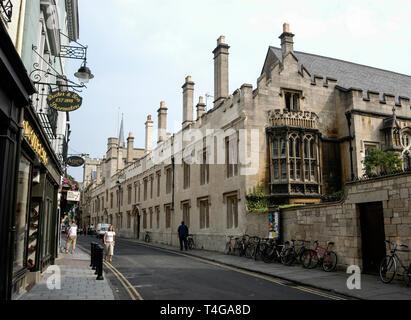 Lincoln College in Turl Street, Oxford, Britain - Stock Photo