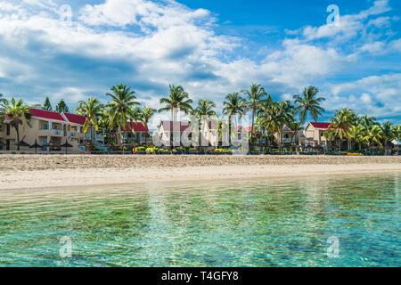 Flick and flac beach, Tamarin Bay, Mauritius island, Africa - Stock Photo