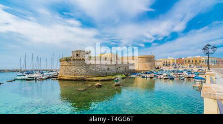 View of Gallipoli town and harbour, Puglia Region, South Italy - Stock Photo