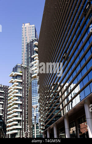 Milan - Modern residential building in Porta Nuova district one of the main business districts of Milan, Lombardy Italy - Stock Photo