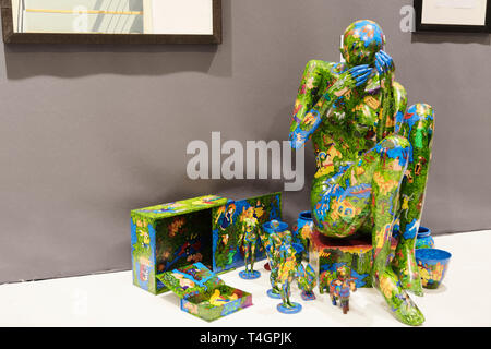 Contemporary Art Fair, International Exhibition of Contemporary Art from April 11 to 14, 2019, Paris, France.Credit: Veronique Phitoussi / Alamy Stock - Stock Photo