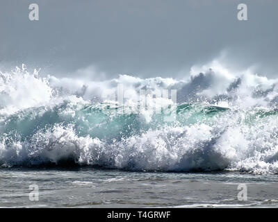 Beautiful and colorful waves in the ocean - Stock Photo