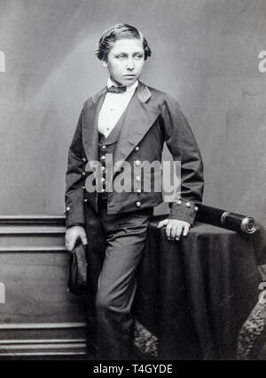 John Jabez Edwin Mayal, The Prince of Wales (Edward VII), portrait photograph as a teenager, c. 1856 - Stock Photo
