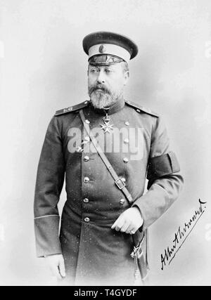 Photograph of Albert Edward, Prince of Wales, 1894 by A. Pasetti - Stock Photo