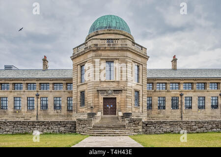 Troon, Scotland, UK - April 14, 2019: The impressive buildings of Marr College a state funded secondary school. It is owned by the Marr Trust and is o - Stock Photo