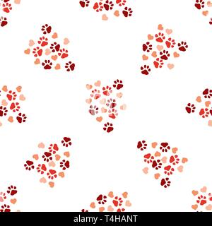 8b2fea819fca ... Animal paw print seamless pattern background. Business flat vector  illustration. Dog or cat pawprint