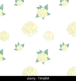 Design flowers yellow flowers clip art illustration digital drawing - Stock Photo