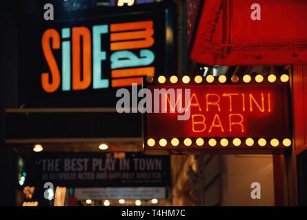 1998 Street Scene, theater District, NYC, USA - Stock Photo