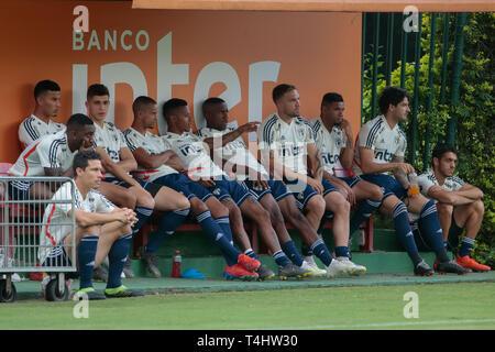 SP - Sao Paulo - 04/16/2019 - Training of Sao Paulo - players during training of Sao Paulo at CT Barra Funda. Photo: Marcello Zambrana / AGIF - Stock Photo