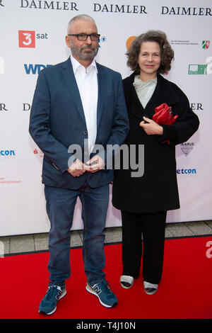 Marco GIACOPUZZI, Barbara MUELLER, Muller, Red Carpet, Red Carpet Show, Arrival, arrival, 54th Awarding of the Adolf Grimme Prize Adolf Grimme Prize Grimme Award in Marl, 05.04.2019. | usage worldwide - Stock Photo