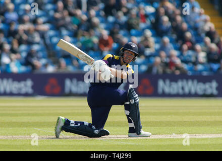Emerald Headingley Stadium, Leeds, West Yorkshire, UK. 17th April 2019.   Yorkshire's Gary Ballance bats during the Royal London One Day Cup match Yorkshire Viking vs Leicestershire Foxes at Emerald Headingley Stadium, Leeds, West Yorkshire.  Credit: Touchlinepics/Alamy Live News - Stock Photo