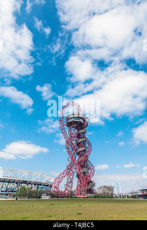 Arcelor Mittal Orbit tower,Queen Elizabeth Olympic Park, Stratford, London, England, United Kingdom. - Stock Photo