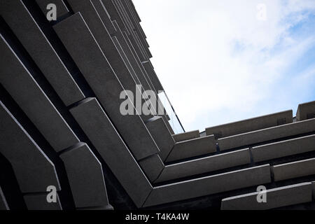 Dundee / Scotland - April 14th 2019: The exterior of the Victoria & Albert Museum in Dundee, Scotland. - Stock Photo