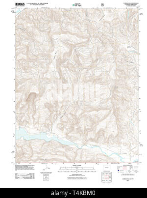 USGS TOPO Map Colorado CO Carracas 20110614 TM Restoration - Stock Photo