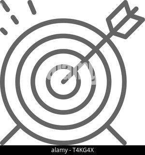 Target, goal line icon. Isolated on white background - Stock Photo