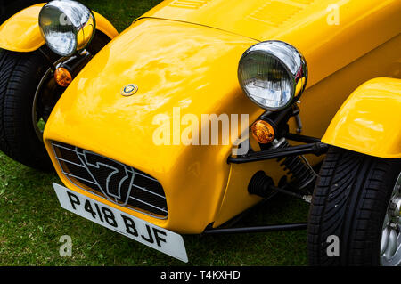 A 1996 Caterham Super 7 on display at a car show - Stock Photo