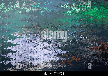 Thin sheet of multi coloured cellophane with shiny crumpled surface texture, Abstract background, Light Shadow concept