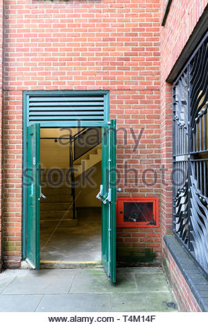 Car park emergency doors, Salisbury, Wiltshire, England, UK - Stock Photo