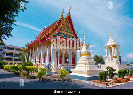 Pagoda, Wat Klang, Surat Thani, Thailand - Stock Photo