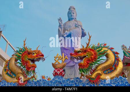 Buddhist Bodhisattvas Guam-im, Surat Thani, Thailand - Stock Photo