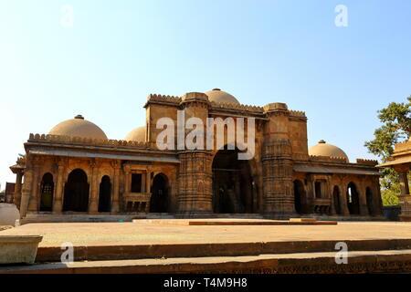 Hazrat Harir RA Masjid at Ahmedabad in the Indian state of Gujarat - Stock Photo