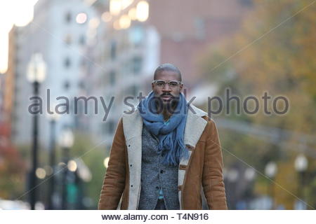 men's gray suit jacket - Stock Photo