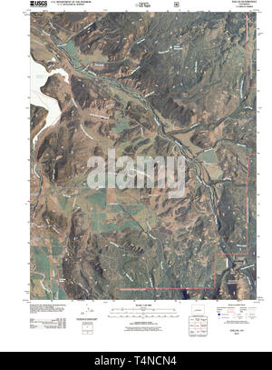 USGS TOPO Map Colorado CO Dallas 20110520 TM Restoration - Stock Photo
