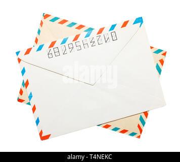 Two vintage envelopes - Stock Photo