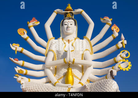 Big Guan Yin statue at Wat Plai Laem Temple, Koh Samui, Thailand - Stock Photo