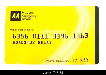 AA membership card - Stock Photo