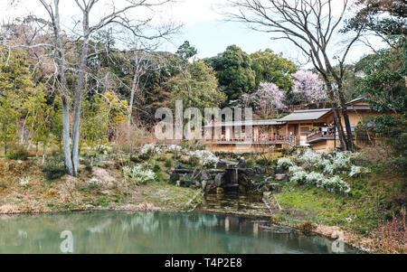 Tea House at Fushimi Inari-Taisha Shrine in Kyoto, Japan - Stock Photo