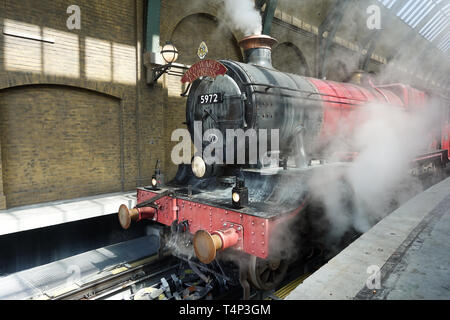 The Hogwarts Express Train at Universal Studios is a theme park ride that takes guest between Diagon Alley and Hogsmeade.