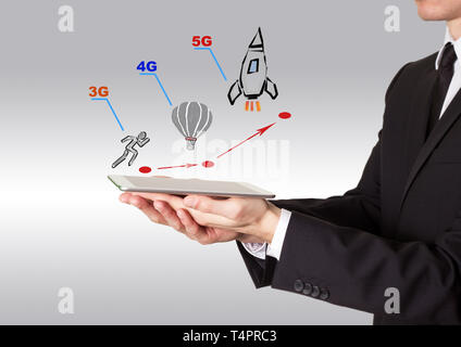 5g network tehnology concept - Stock Photo