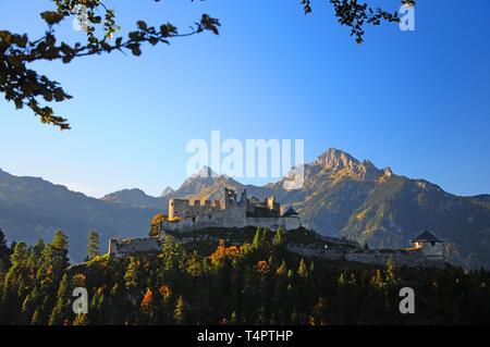 Castle ruin Ehrenberg in Reutte, Tirol, Austria, Europe - Stock Photo