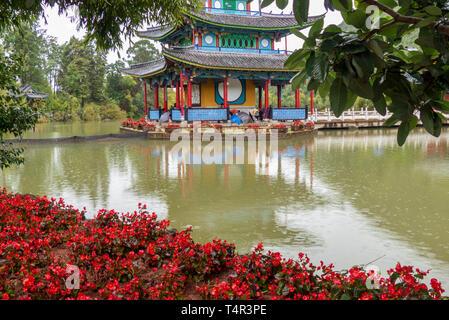 Black Dragon Pool in Lijiang, Yunnan Province, China - Stock Photo