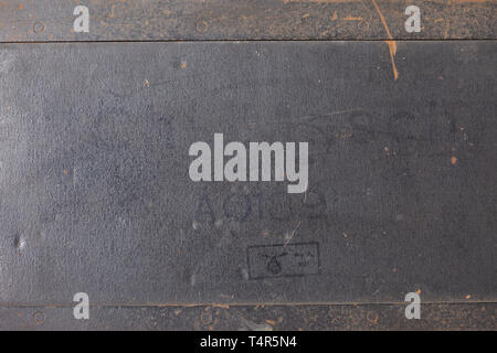 A German 'Enigma I' cipher machine, 1944 army issue, in the original carrying case Appliance number 'A 01891', manufactured 20th century, Editorial-Use-Only - Stock Photo