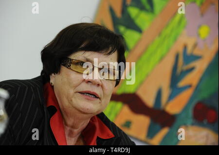 Brno, Czech Republic. 01st Aug, 2013. ***FILE PHOTO*** Czech PM Babis will nominate Marie Benesova for justice minister to replace Knezinek, he told Czech Television. on April 18, 2019. Benesova held the post before and was supreme prosecutor. *** Marie Benesova, Czech Justice Minister, attends a press conference, on August 1, 2013, in Brno, Czech Republic. Credit: Vaclav Salek/CTK Photo/Alamy Live News - Stock Photo