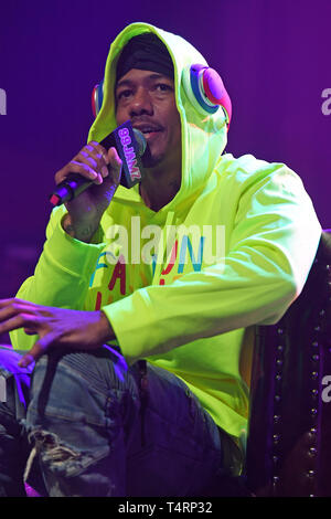 FORT LAUDERDALE FL - APRIL 18: Nick Cannon at 99 Jamz Uncensored at Revolution Live on April 18, 2019 in Fort Lauderdale, Florida. Credit: mpi04/MediaPunch - Stock Photo