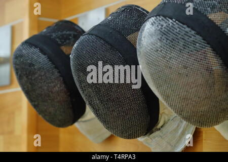 the JISS, Tokyo, Japan. 19th Apr, 2019. General view, APRIL 19, 2019 - Fencing : Japan National Team Training Session at the JISS, Tokyo, Japan. Credit: Naoki Nishimura/AFLO SPORT/Alamy Live News - Stock Photo