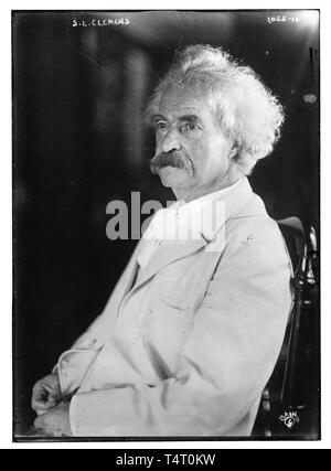 Mark Twain (1835-1910), portrait photograph, before 1910 - Stock Photo