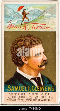 A Portrait Of Mark Twain Or Samuel Clemens Lookalike
