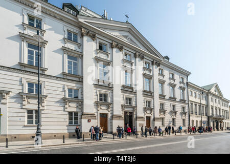 Warsaw, Poland. April, 2018. A view of the facade of   Orthodox church and monastery of the Dormition of the Blessed Virgin Mary in Warsaw Stock Photo