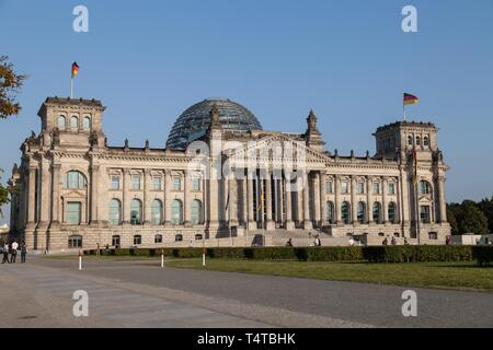 German Parliament, Reichstag, government district, Berlin, Germany, Europe - Stock Photo