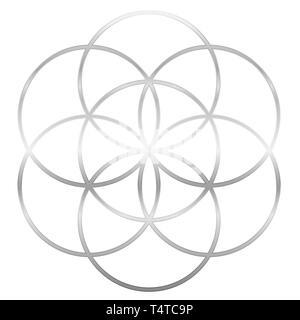 Monochrome seed of life symbol Stock Photo: 226648039 - Alamy